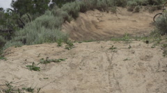 A man riding his mountain bike. Stock Footage
