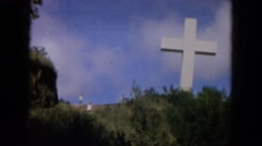 1964: a big cross is seen HAWAII Stock Footage