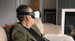 Mobile Virtual Reality Headset Experience (Samsung Gear VR 2016) Stock Footage