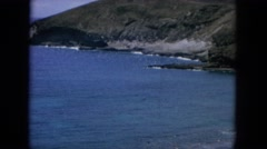 1964: ocean view from some cliffs showing wildlife and reefs HAWAII Stock Footage