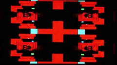 Red mirror shapes VJ loop Stock Footage