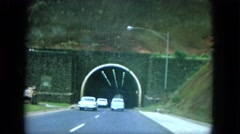 1964: late 1950s dashboard recording of the mountain tunnel. HAWAII Stock Footage