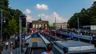 Sporting competitions about Brandenburg Gate Stock Footage
