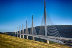 Millau Viaduct, Aveyron Deparement, France Stock Photos