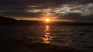 Beautiful Sunset over the lake Stock Footage