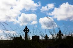 Celtic crosses in Aran Island Kuvituskuvat