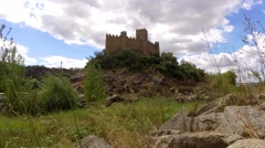 Almourol castle Portugal steady shot 4k Stock Footage