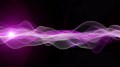 Romantic animation wave object and blinking light, 4096x2304 loop 4K Stock Footage