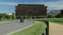 African American Museum south sidewalk Stock Footage