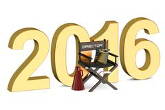 Video, movie, cinema production concept 2016 Stock Illustration