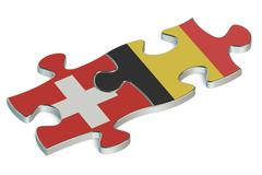 Belgium and Switzerland puzzles from flags Stock Illustration