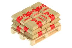 Cement bags on pallet Stock Illustration