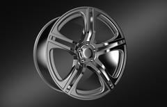 Car wheel rim, 3D rendering Stock Illustration
