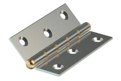 Door Hinge 3D rendering Stock Illustration
