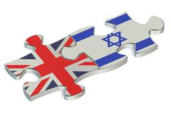 Israel and Great Britain puzzles from flags Piirros
