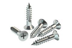 Screws 3D rendering Stock Illustration