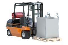 Forklift truck with bulk bag Stock Illustration