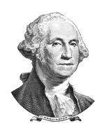 Portrait of George Washington Stock Illustration
