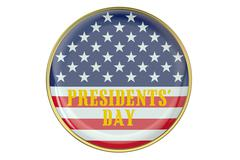 Presidents' Day concept with badge Stock Illustration