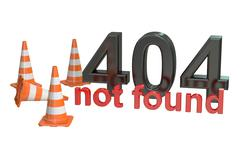 404 not found concept Stock Illustration