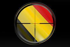 Brussels attacks concept Stock Illustration