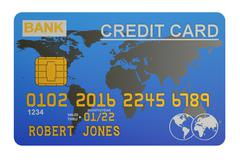 Credit Card, 3D rendering Stock Illustration