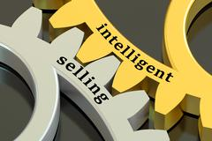 Intelligent selling concept 3D rendering Stock Illustration