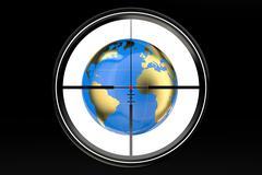 Terrorism threat around the world concept Stock Illustration