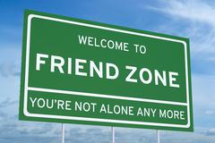 Welcome to Friend Zone on road billboard Stock Illustration