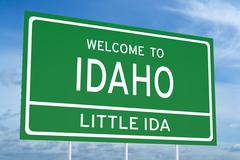 Welcome to Idaho state road sign Stock Illustration