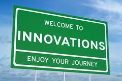 Welcome to Innovations concept Stock Illustration