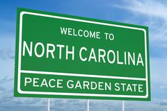 Welcome to North Carolina state road sign Piirros
