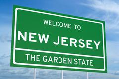 Welcome to New Jersey state road sign Piirros
