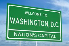Welcome to Washington, D.C. state road sign Stock Illustration
