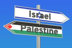 Israel and Palestine crisis concept, 3D rendering Stock Illustration