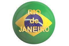 Rio de Janeiro 2016 concept, 3D rendering Piirros