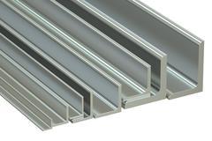 Rolled metal L-bar, angles. 3D rendering Stock Illustration