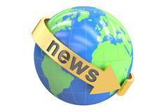 World News concept, 3D rendering Stock Illustration