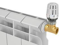 Heating radiator thermostatic valve, 3D rendering Piirros