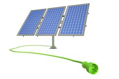 Solar power alternative energy concept. 3D rendering Piirros