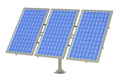 Solar Panels, 3D rendering Stock Illustration