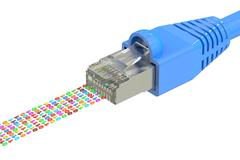 Network connection concept, computer network cable. 3D rendering Stock Illustration