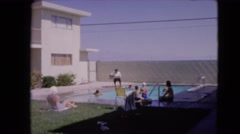 1966: a swimming scene BARSTOW, CALIFORNIA Stock Footage