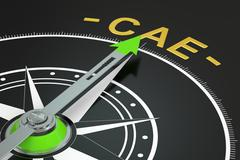 CAE compass concept, 3D rendering Stock Illustration