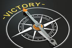 Victory compass concept, 3D rendering Stock Illustration