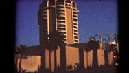 1966: a tall building is seen BARSTOW, CALIFORNIA Stock Footage