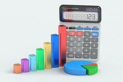 Business finance, banking, statistic and accounting concept, 3D rendering Stock Illustration