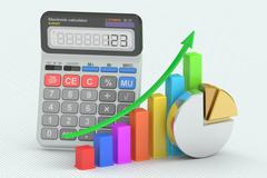 Business finance, banking and statistic concept, 3D rendering Stock Illustration