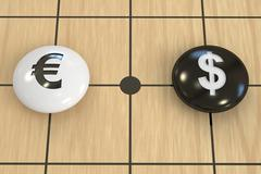 Euro vs dollar concept, 3D rendering Stock Illustration