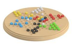 Chinese checkers game, 3D rendering Stock Illustration